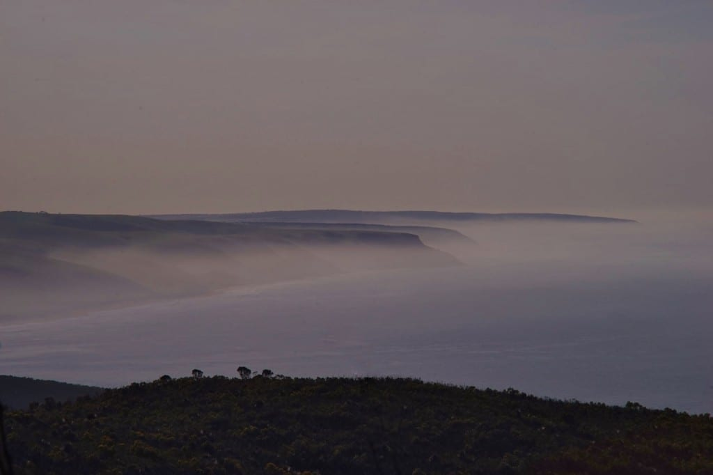 Early morning sea mist over Deep Creek Conservation Park