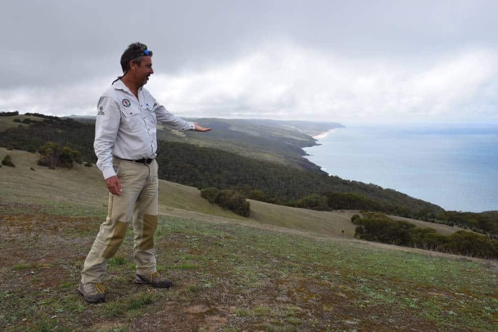 Park Ranger Simon Oster in Deep Creek Conservation Park