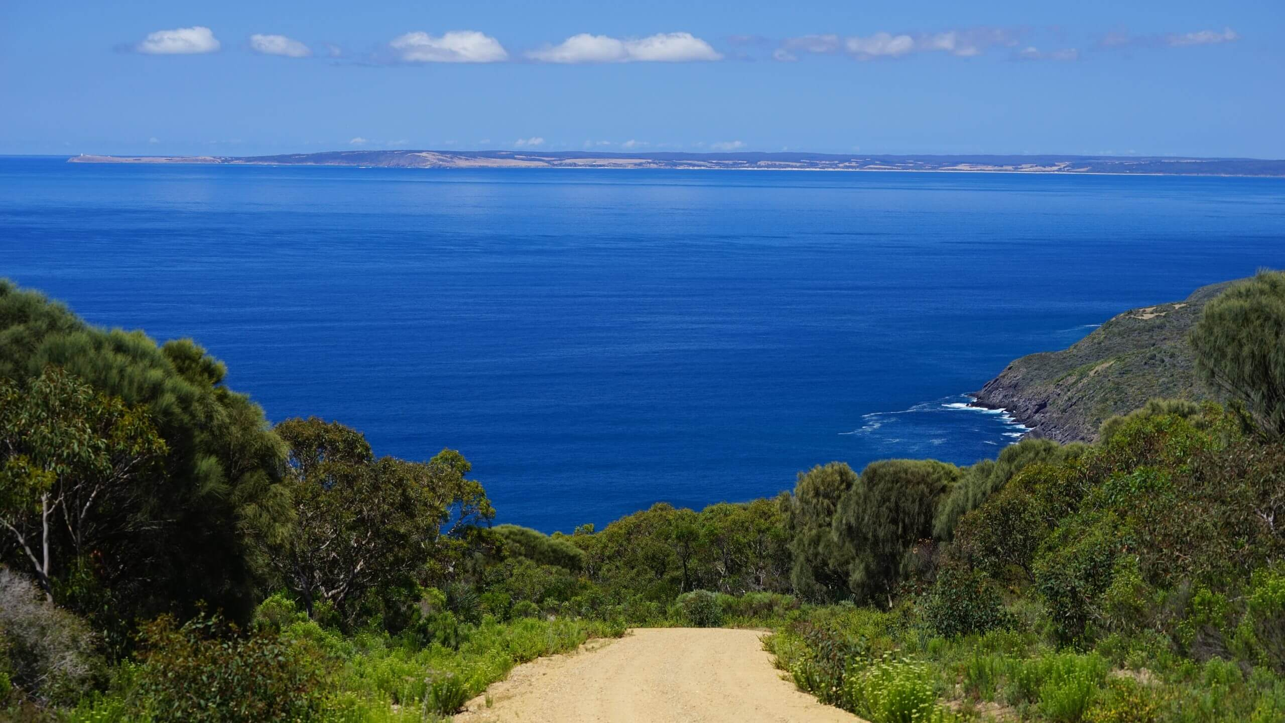 View across to Kangaroo Island from Deep Creek