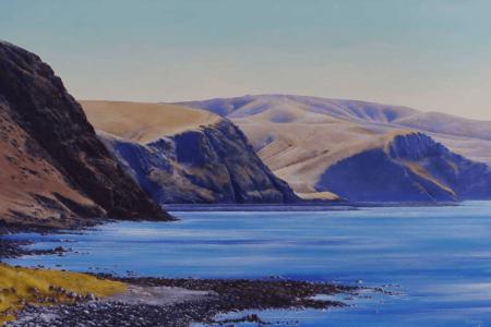 Artwork of coastline at Deep Creek Conservation Park